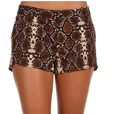 BCBGMAXAZRIA Snake Print Short Pants